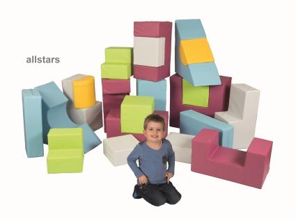 Bänfer Kids Softbausteine Bausteine Maxi Motorik-Bausteine-Satz 21-teilig für Kinderkrippe