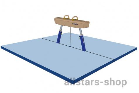 Bänfer Pauschenpferd Mattensatz Nadelfilz blau 4000 x 4000 x 100 mm