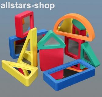 Dragon Toys große Spiegel-Softbausteine Bausteine EVA bruchsicheres Acryl 10-tlg. für Kindergarten und Hort