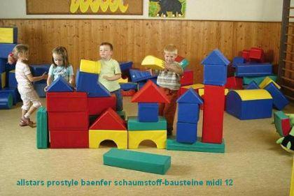 Bänfer Bausteinsatz 12-tlg. Softbausteine MINI Bausteine Großbausteine Schaumstoff - Vorschau 2