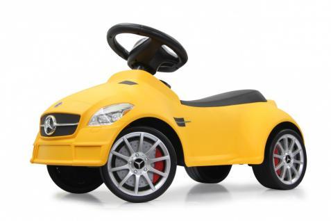 Jamara Rutscher Mercedes SLK 55 AMG gelb Rutschauto Kippschutz