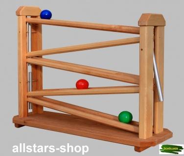 Schöllner Holzspielzeug Kugelbahn aus Holz mit 3 Kugeln