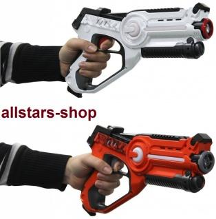 Jamara Impulse Laser-Pistole LaserGun Battle Set 2 Stück orange-weiß Infrarot