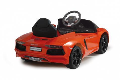Jamara Ride on Car Lamborghini Aventador orange Kinderauto mit E-Motor zum Selbstfahren Elektroauto mit RC-Fernbedienung - Vorschau 2