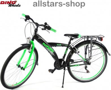 """Allstars Dino Wheels Bikes Thombike Kinderfahrrad Jungenfahrrad 26 """" mit 21-Gang-Ketten-Schaltung grün - Vorschau 1"""