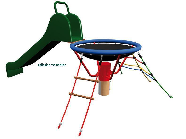 huck vogelnest kletterturm asslar mit rutsche mit. Black Bedroom Furniture Sets. Home Design Ideas