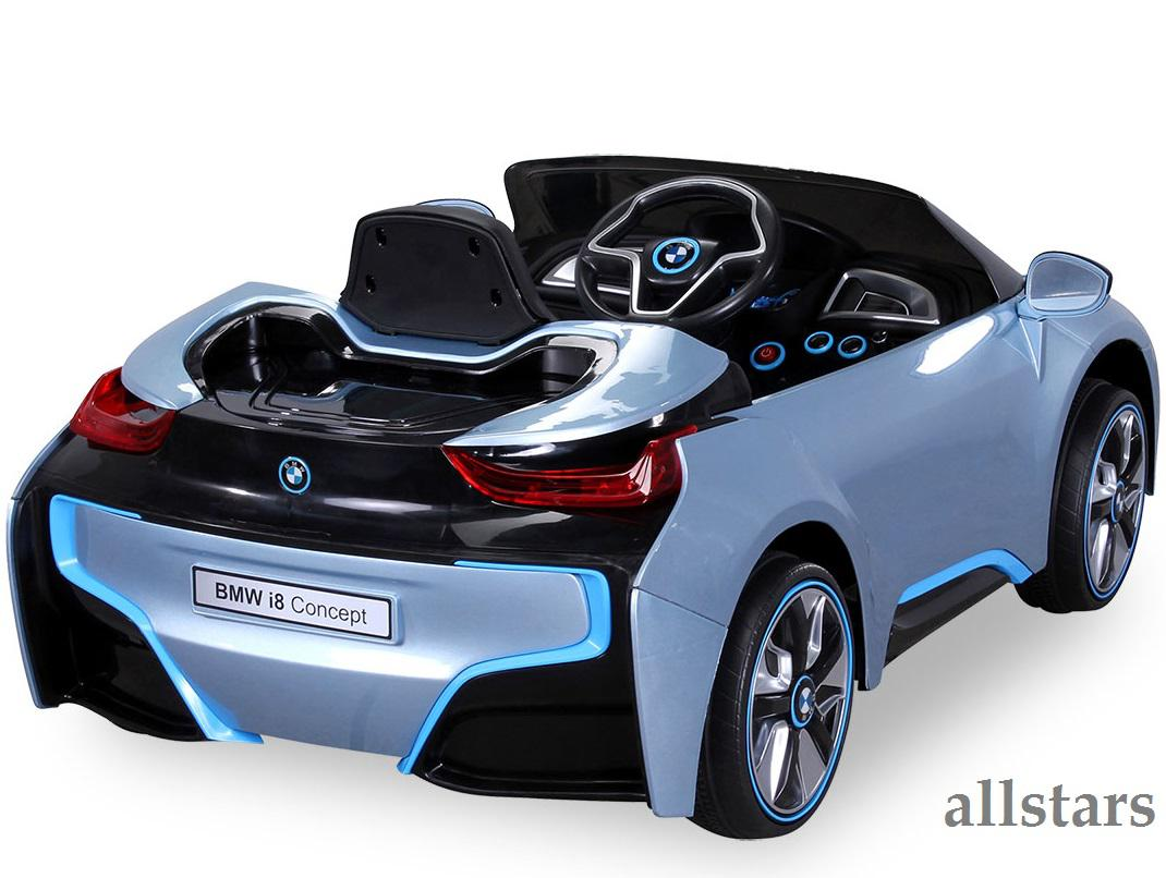 allstars kinder elektroauto bmw i8 metallic hellblau mit. Black Bedroom Furniture Sets. Home Design Ideas