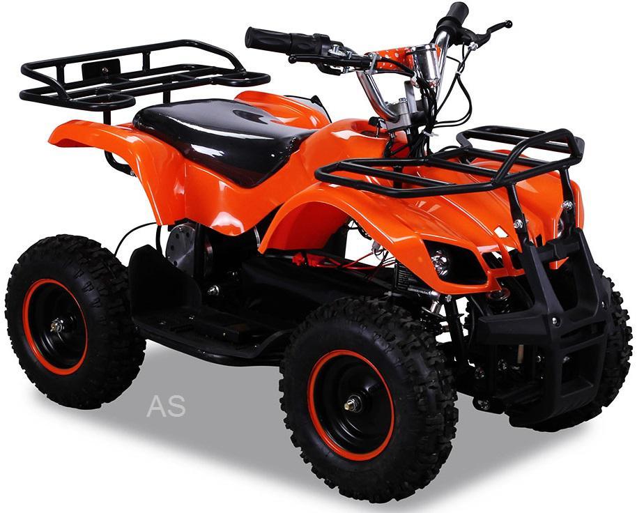 Elektro kinderquad in orange. Kinderfahrzeuge