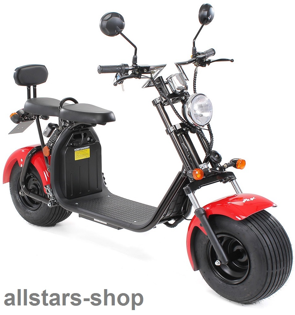 Actionbikes Elektro-Roller Easy Rider Harley Two Sitze Elektro-Scooter  Chopper STVZO rot