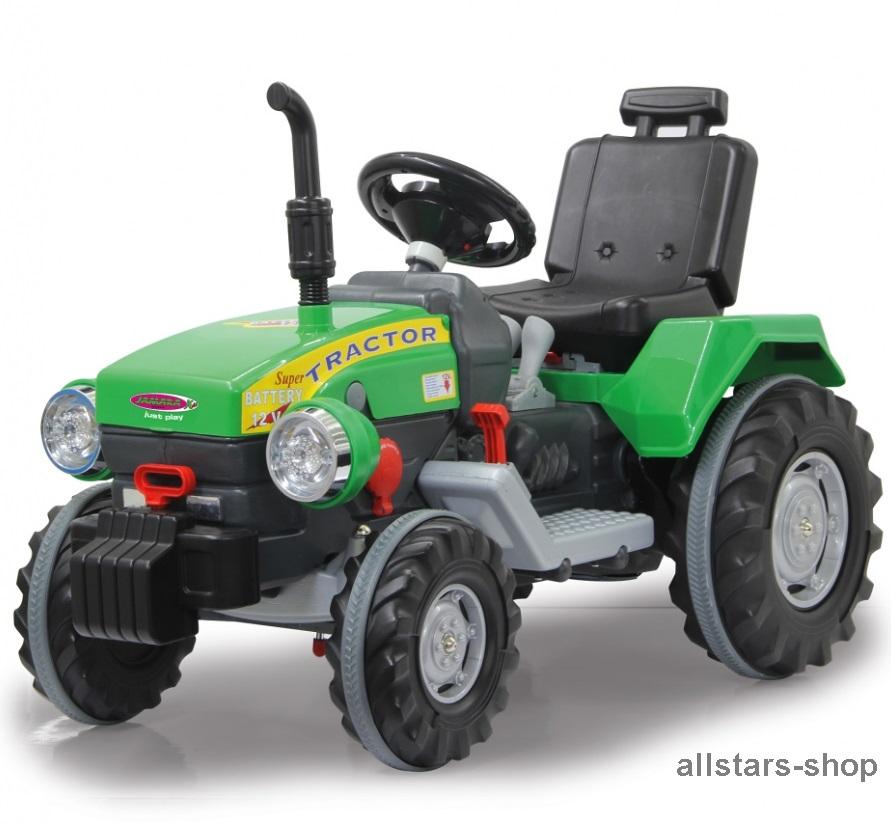jamara kinder auto ride on traktor mit elektromotor trecker elektro tractor gr n kaufen bei. Black Bedroom Furniture Sets. Home Design Ideas