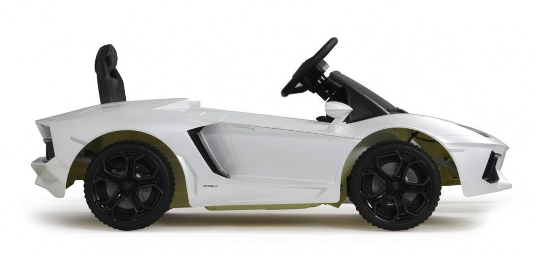 jamara ride on car lamborghini aventador weiss kinderauto. Black Bedroom Furniture Sets. Home Design Ideas