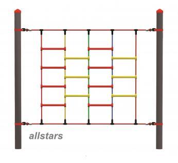 Huck Vario-Systen Element 15 Kletternetz Parcours f. Stahlpfosten Spielplatz