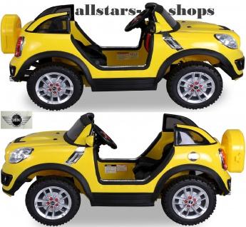 Actionbikes Kinderauto BMW Mini Beachcomber Cooper für 2 Personen Kinder-Elektroauto Miweba