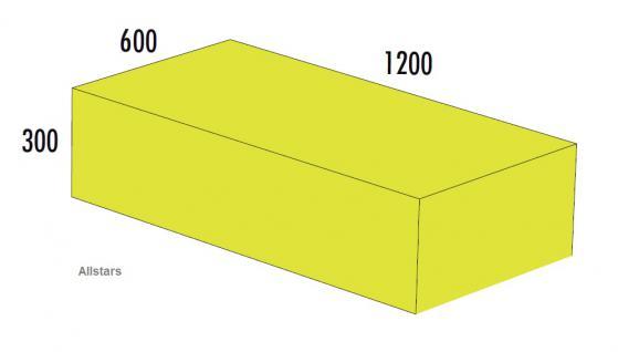 Bänfer Softbaustein Quader Gelb 1200 x 600 x 300 mm Maxi Schaumstoff-Baustein