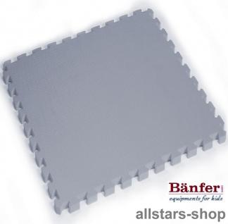 Bänfer-Kids Spielmatte 4 Stück Fallschutzmatte Matte Vario Step grau Steckmatte System