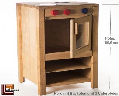 Allstars Kinderküche Spielküche 1 Herd mit Backofen H = 65, 5 cm aus Buchenholz