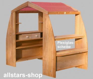 Schöllner Holzspielzeug Kaufhaus De Luxe Kaufladen mit Dach und 2 Schubladen