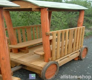 Spielplatzeisenbahn Spielzug - Loki Waggon - Hänger für Holz-Lokomotive für öffentlichen Spielplatz