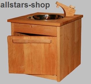 Schöllner Spüle Spültisch für Kinderküche Spielküche Star Maxi aus Holz mit Unterschrank für Kindergarten - Vorschau 3