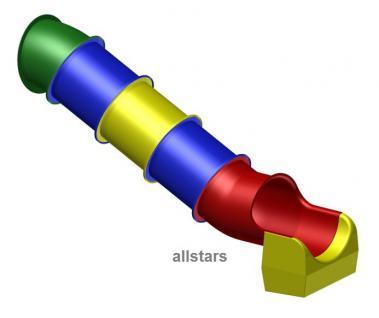 Beckmann Rutsche Röhrenrutsche L= 2, 6 m PH 1, 0 m Modulrutsche