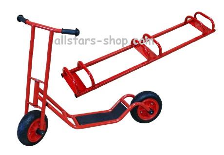 Allstars Roller Cityroller Scooter KiGa-Roller Kindergartenroller E-Vinyl-Räder Maxi + Ständer