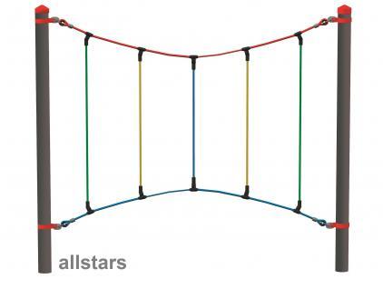 Huck Vario-Systen Element 9 Bogenseil Parcours f. Stahlpfosten Spielplatzanlage