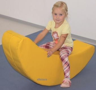 Allstars Softbaustein Banane Schaukelwippe Wippe Schaumstoff Kindergarten