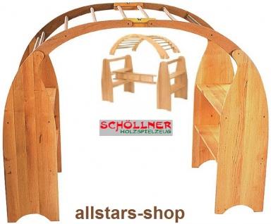 Schöllner Spielhaus ohne Plane mit 2 gleichen Verkaufstresen Kaufladen-Ständer + 2 Dachboden
