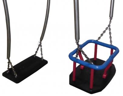 Beckmann Schaukel Eltern-Kind-Schaukel Doppelschaukel 2 Sitze mit Kleinkindschaukel und Kardan-Schaukelgelenke - Vorschau 3