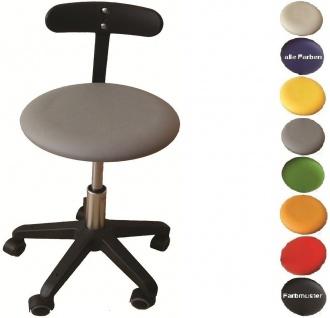 """Allstars Bürostuhl """"Octopus Beta"""" 42-55 cm Drehstuhl mit Rollen und PU-Beckenstütze grau"""