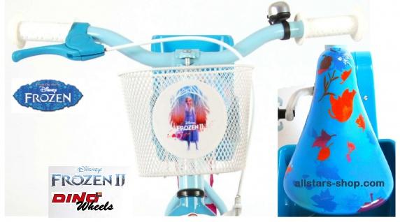 """Allstars Dino Wheels Bikes Disney Frozen Kinderfahrrad Mädchenfahrrad 14 """" mit Rücktrittbremse blau-lila - Vorschau 5"""