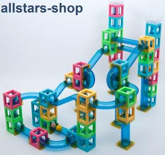 Dragon Toys magnetische Kugelbahn Baukasten mit Magneten Bauklötze Bausteine für Kindergarten und Hort