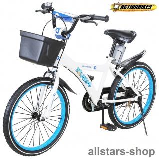 Actionbikes Kinderfahrrad Kinder-Fahrrad - Donaldo - 20 Zoll blau-weiß Bike Jungen Mädchen für Kindergarten