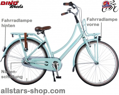 Allstars Dino Wheels Bikes Kinderfahrrad Mädchenfahrrad 26 Zoll, 3-Gänge Excellent, Minze