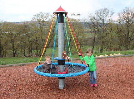 Hally-Gally Mini-Vogelnest Karussell Kletterpyramide Drehturm Spielplatzgeräte