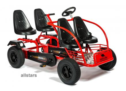 Train Kettkart Tuk Tuk Viersitzer GoKart Famiien-Ausflugswagen Mehrkindwagen Dino Cars