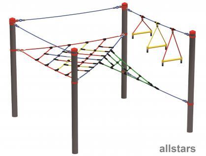 Huck Vario-Systen Element 1 Kletternetz Parcours f. Stahlpfosten Spielplatzanlage