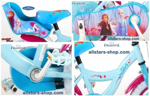 """Allstars Dino Bikes Wheels Disney Frozen Kinderfahrrad Mädchenfahrrad 14 """" mit Rücktrittbremse blau-lila - Vorschau 4"""