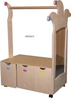 Schrank Verkleidungsregal Faschingsregal Spiegel Kindergartenschrank - Vorschau 1