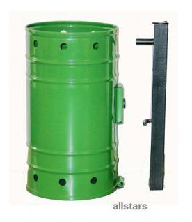 Beckmann Abfallbehälter 20 l Mülleimer Typ 1 Papierkorb pulverbeschichtet Stahl