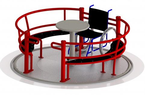 Beckmann Rollstuhlkarussell Rollstuhl-Karussell Spielplatz Behindertenkarussell