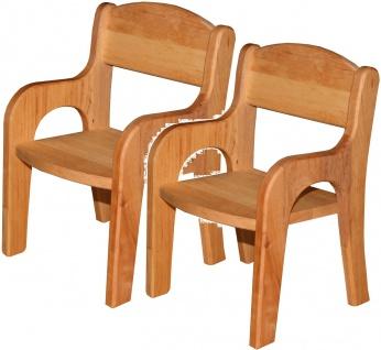 Schöllner Puppenstuhl Klassik aus Holz 2 Stühle Spielmöbel Puppenmöbel für Kindergarten