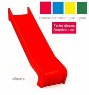 Beckmann Rutsche PE rot Anbaurutsche L = 1, 26 m PH 0, 9 m Flanschmontage