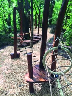 Huck Fun-Parcours 2010 Kletterspiel Abenteuertunnel für Robinie-Pfosten