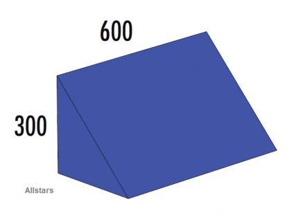 Bänfer Softbaustein Dreieck Blau 600 x 300 x 300 mm Maxi Schaumstoff-Baustein