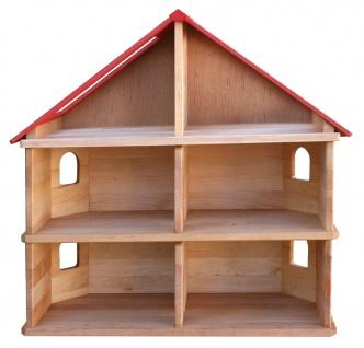 Schöllner Puppenhaus Spielhaus Kinderspielhaus Puppenstube 2 Etagen mit Dach für Kindergarten - Vorschau 2