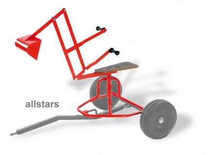 DinoCars Anhänger Bagger-Aufsatz Minibagger Schaufelbagger Sandbagger