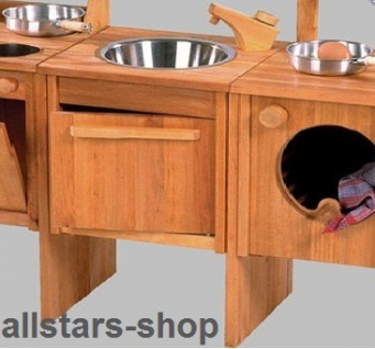 Schöllner Spüle Spültisch für Kinderküche Spielküche Star Maxi aus Holz mit Unterschrank für Kindergarten - Vorschau 4