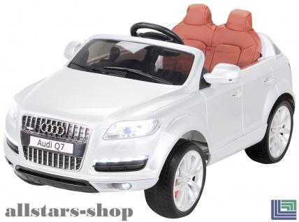 Actionbikes Kinderauto Selbstfahrer Elektro-Auto Audi Q7 SUV Kinder-Elektroauto weiss Miweba