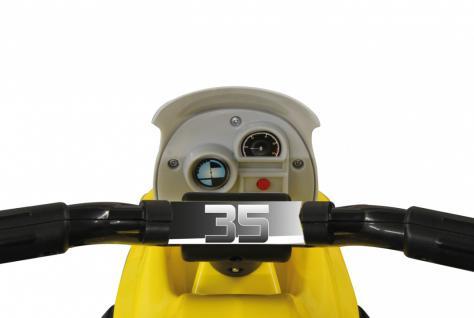 Jamara Kinderauto Elektro-Trike Elektroauto Ride-on E-Trike Racer gelb - Vorschau 3